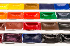 Paint brushes, colors and pallet Royalty Free Stock Images