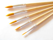 Brushes. Five art brushes of different diameters Royalty Free Stock Images