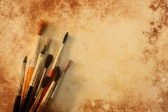Paint brushes grunge texture Stock Photography