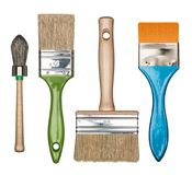Paint brushes isolated royalty free stock images