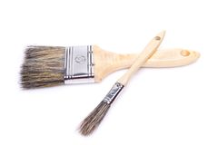Paint brushes isolated on the white background Stock Image
