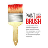 Paint Brushes isolated on white. Vector Royalty Free Stock Photo