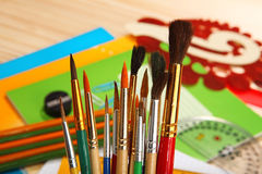 Paint brushes. Selective focus Royalty Free Stock Image