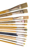 Paint brushes on a white Royalty Free Stock Images