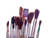 Paint brushes on white Royalty Free Stock Photos