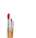 Paint brushes on white Royalty Free Stock Photography