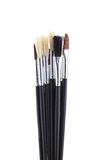 Paint brushes on white backgroud Royalty Free Stock Image