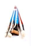 Paint brushes on white background Stock Photos