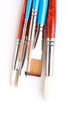 Paint brushes on white background Royalty Free Stock Image