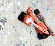 Paint brushs background Stock Photo