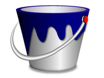 Paint bucket. In white background Royalty Free Stock Photography