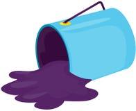 Paint bucket. Illustration of isolated paint bucket on white background Royalty Free Stock Photo