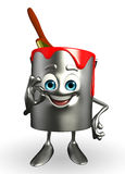 Paint Bucket Character is best sign Royalty Free Stock Photography