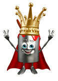 Paint Bucket Character with crown Royalty Free Stock Photography