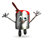 Paint Bucket Character is happy pose Royalty Free Stock Images