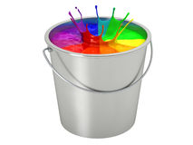 Paint Bucket - color wheel -  on white Stock Image