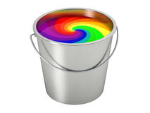 Paint Bucket - color wheel -  on white Stock Photography