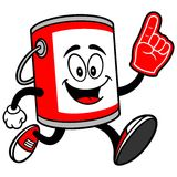 Paint Bucket Running with a Foam Finger. A vector illustration of a Paint Bucket Running with a Foam Finger Royalty Free Stock Images