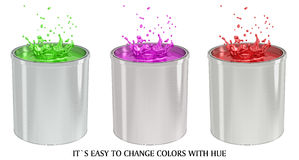 Paint Bucket - splash Royalty Free Stock Photos