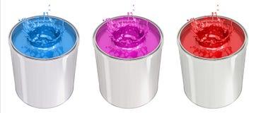 Paint Bucket - splash Royalty Free Stock Photos