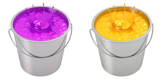 Paint Bucket - splash Royalty Free Stock Photo