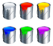 Paint buckets. Stock Images