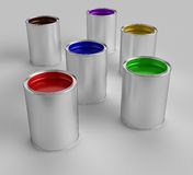 Paint Buckets Stock Images