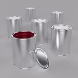 Paint buckets Royalty Free Stock Photos