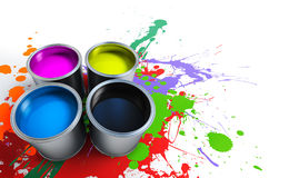Paint Buckets Royalty Free Stock Photography