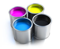 Paint buckets Stock Photography