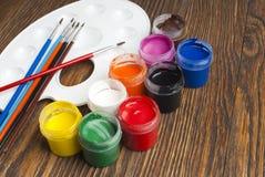Paint buckets Stock Photo
