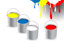 Paint buckets vector illustration