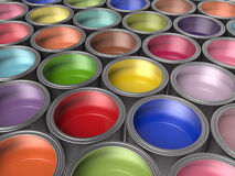 Paint Buckets Background Royalty Free Stock Photography