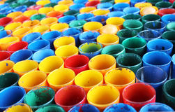 paint buckets Stock Photo
