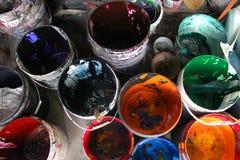 Paint buckets Royalty Free Stock Photo