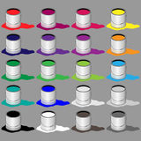 Paint Buckets Royalty Free Stock Photo