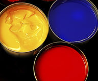 Paint bucklet. Offset Stock Image