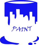 Paint Can. With artistic effect has been created as vector Royalty Free Stock Photos