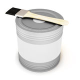 Paint can with blank white label for your design with clipping p Stock Image