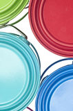 Paint Can Close Up Colorful Background Royalty Free Stock Images