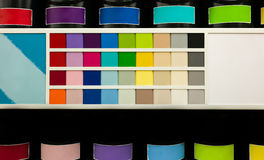 Paint can and color chart Stock Photo