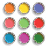 Paint can color palette Stock Images