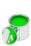 Paint can with cover Royalty Free Stock Photos