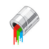Paint can flow Stock Photography