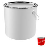 Paint can isolated Stock Photo