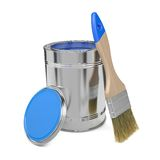 Paint Can and Paintbrush. Royalty Free Stock Image