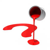Paint Can - Question Mark. 3D rendered image : Paint Can - Question Mark Royalty Free Stock Images