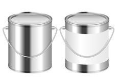 Paint can. Set on a white background Royalty Free Stock Images