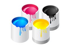 Paint canister Stock Image