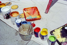 Paint Cans New York USA Royalty Free Stock Image